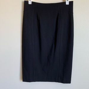 Ann Taylor Skirt Pencil Fitted Black Size 0 T NWT
